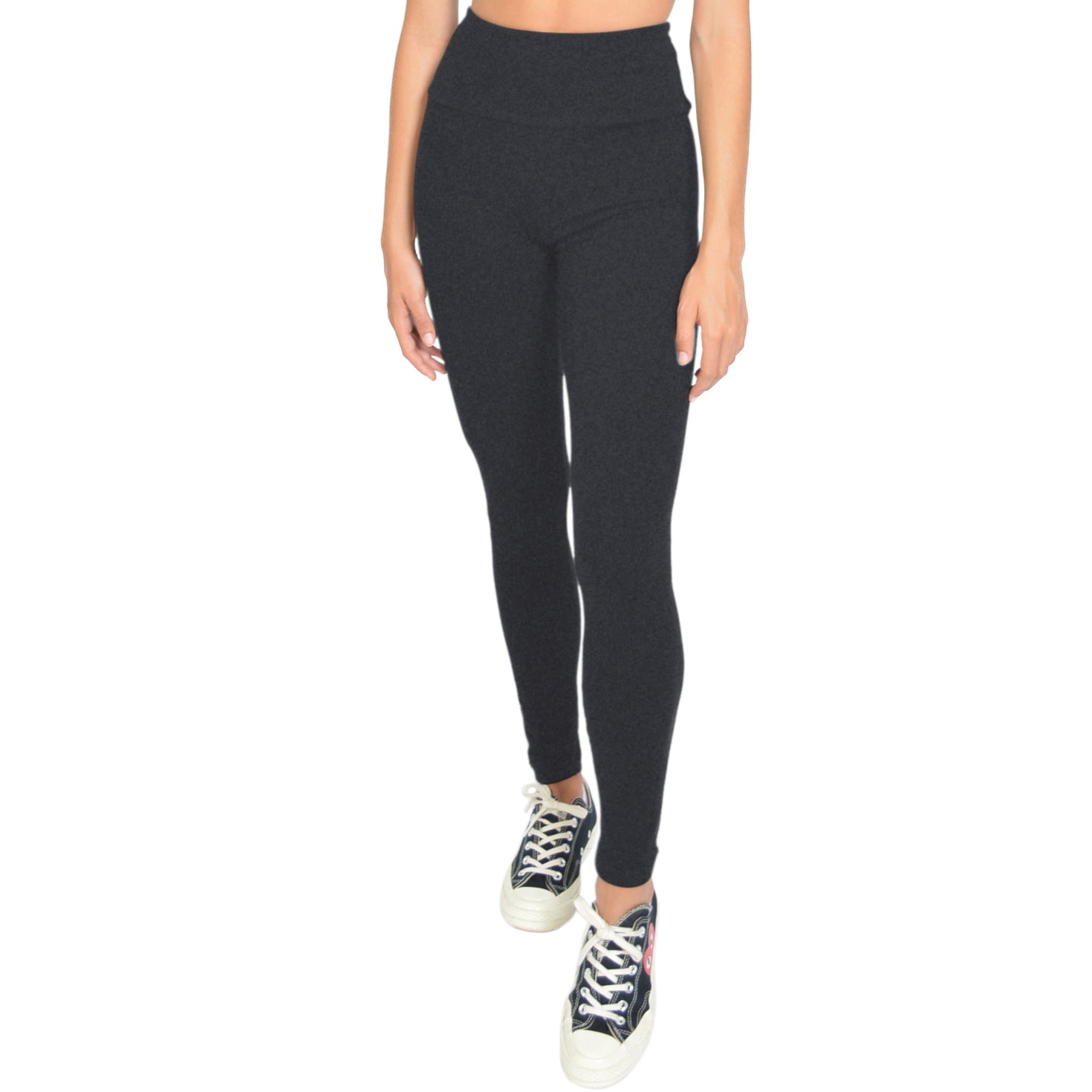 Plus Size High Waist Cotton Stretch Leggings