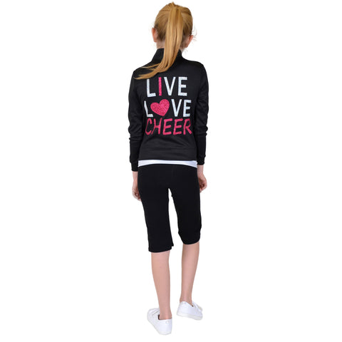 Girl's Rayon Live Love Cheer Warm Up Jacket