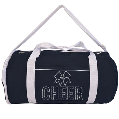 Kaysees Personalized Two-Tone Sport CHEER Duffel Bags with Cheerleader's Name
