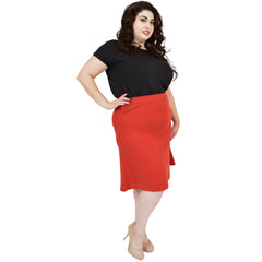 Plus Size Flared Trumpet Skirt