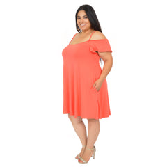 Plus Size Serena Off The Shoulder Spaghetti Strap Dress