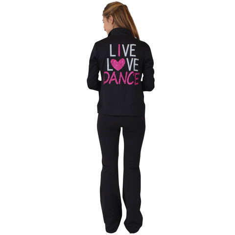 Women's Rayon Live Love Dance Warm Up Jacket