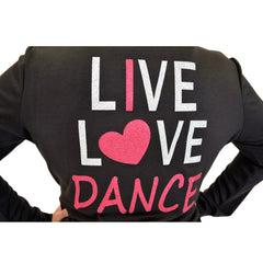 Plus Size Rayon Live Love Dance Warm Up Jacket