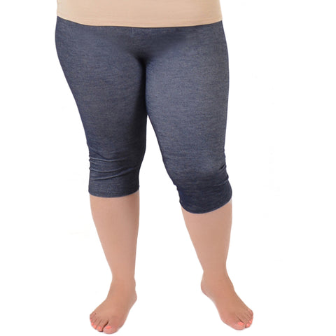 Plus Size Circuit Knee-Length Leggings
