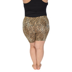 Women's Regular and Plus Size Stretch Print Bike Shorts