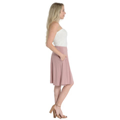Women's Regular and Plus Size A-Line Skirt with Pockets