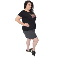 "Plus Size High-Low ""Dance Mom"" Modal Tee"