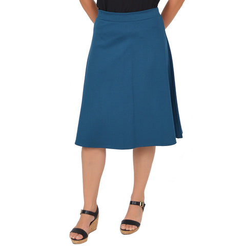 Plus Size Viscose A-Line Work Skirt