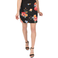 Women's and Plus Size Print Basic Mini Skirt