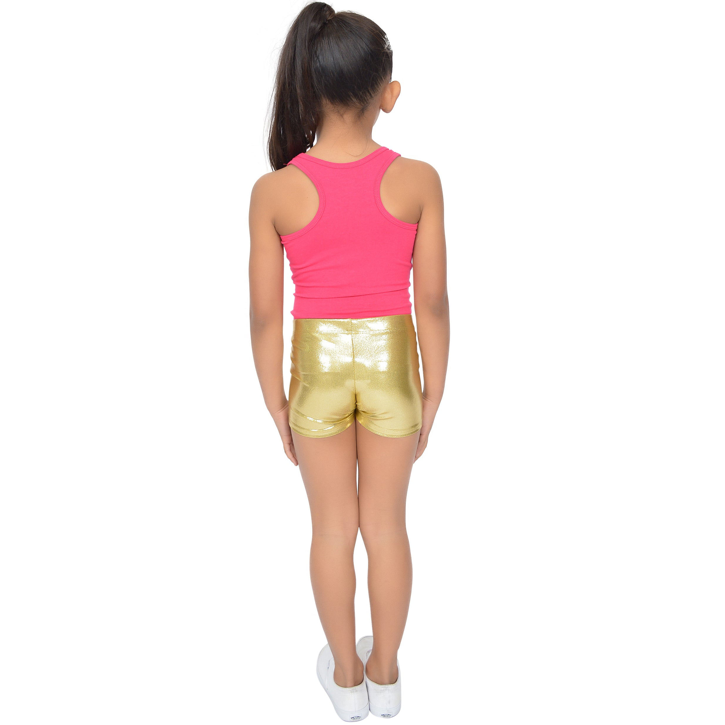 Girl's Mystique Metallic Booty Shorts