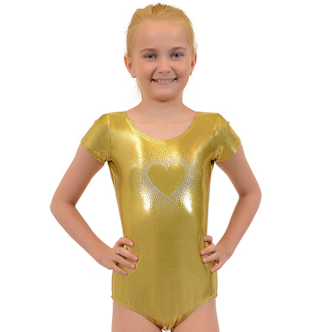 Girl's Sparkling Heart RHINESTONE Mystique Leotards
