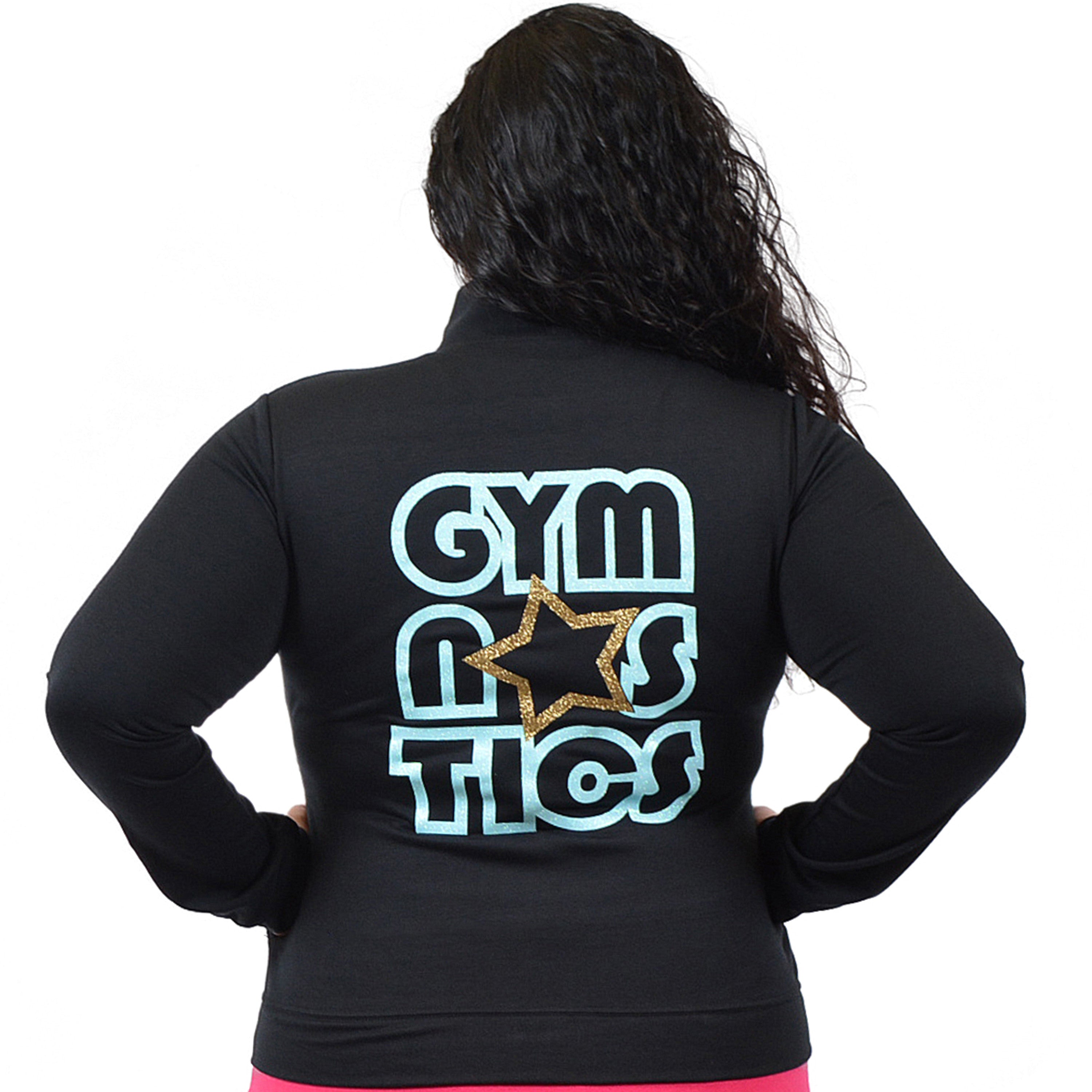 Plus Size Glitter Gymnastics Jacket