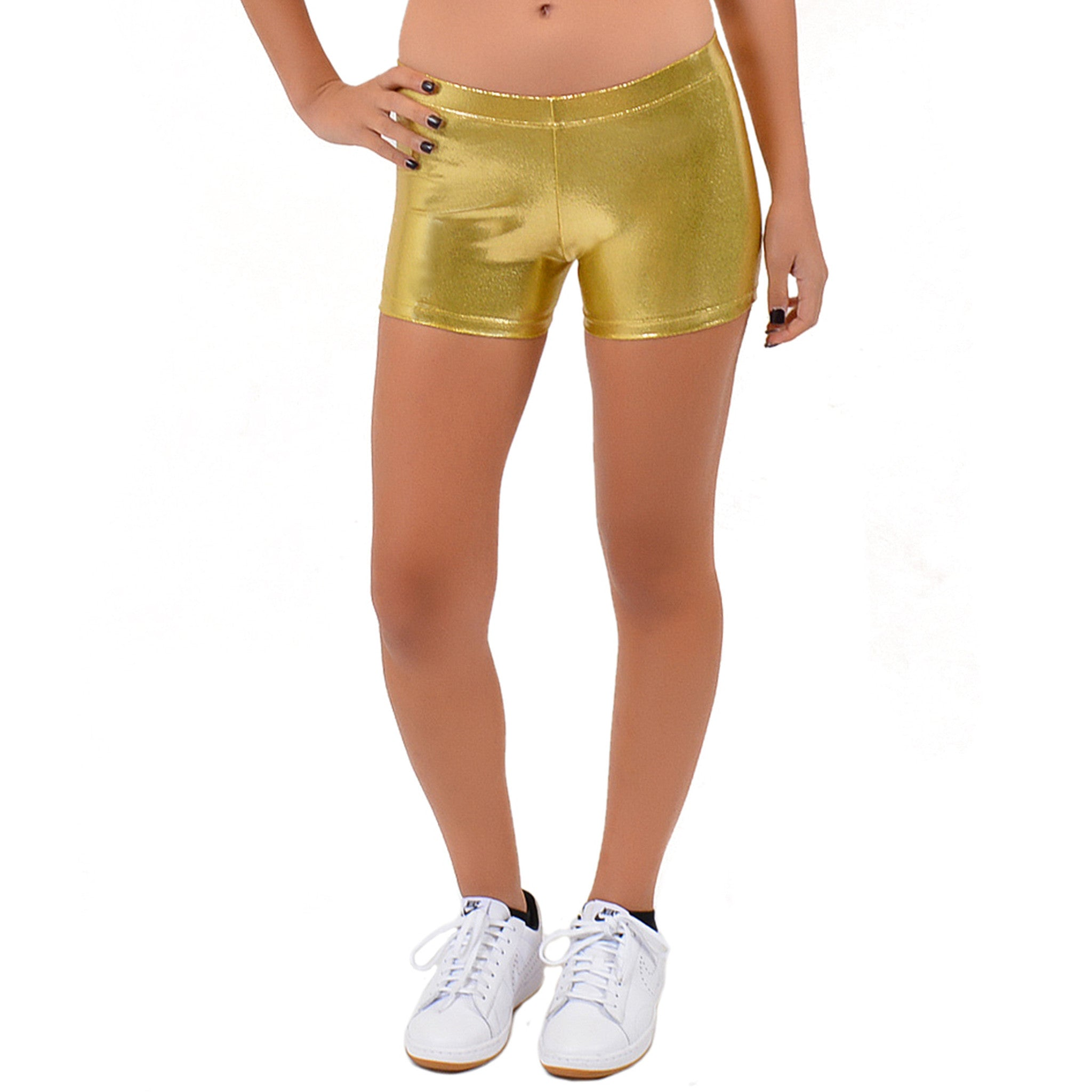 Teamwear Mystique Metallic Booty Shorts