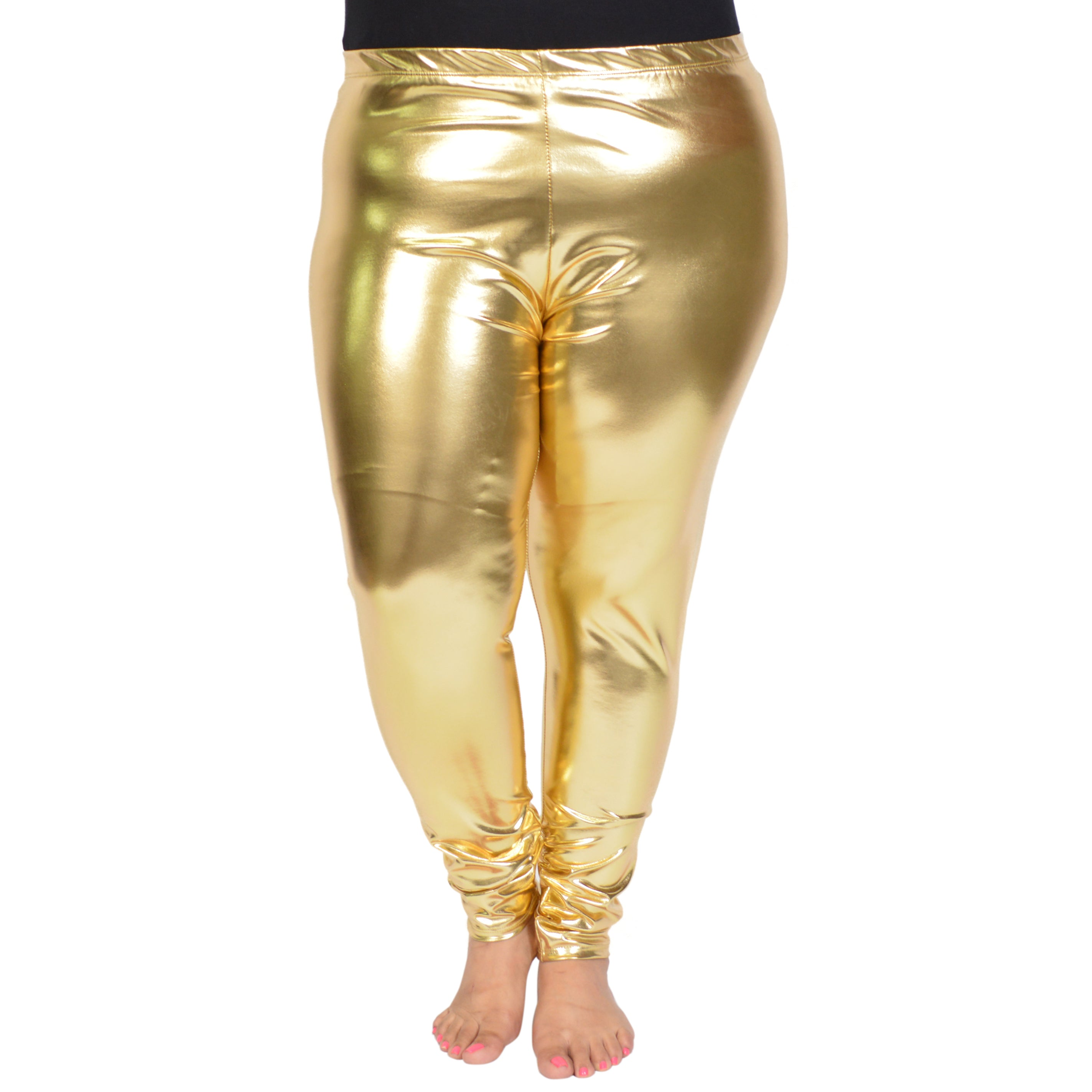 5dfe5d5d63b59 Stretch Is Comfort Women's Plus Size Metallic Leggings