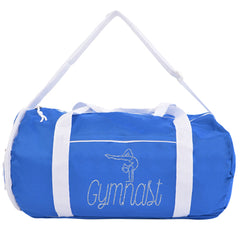 Kaysees Personalized Two-Tone Sport GYMNASTICS Duffel Bags with Gymnast's Name