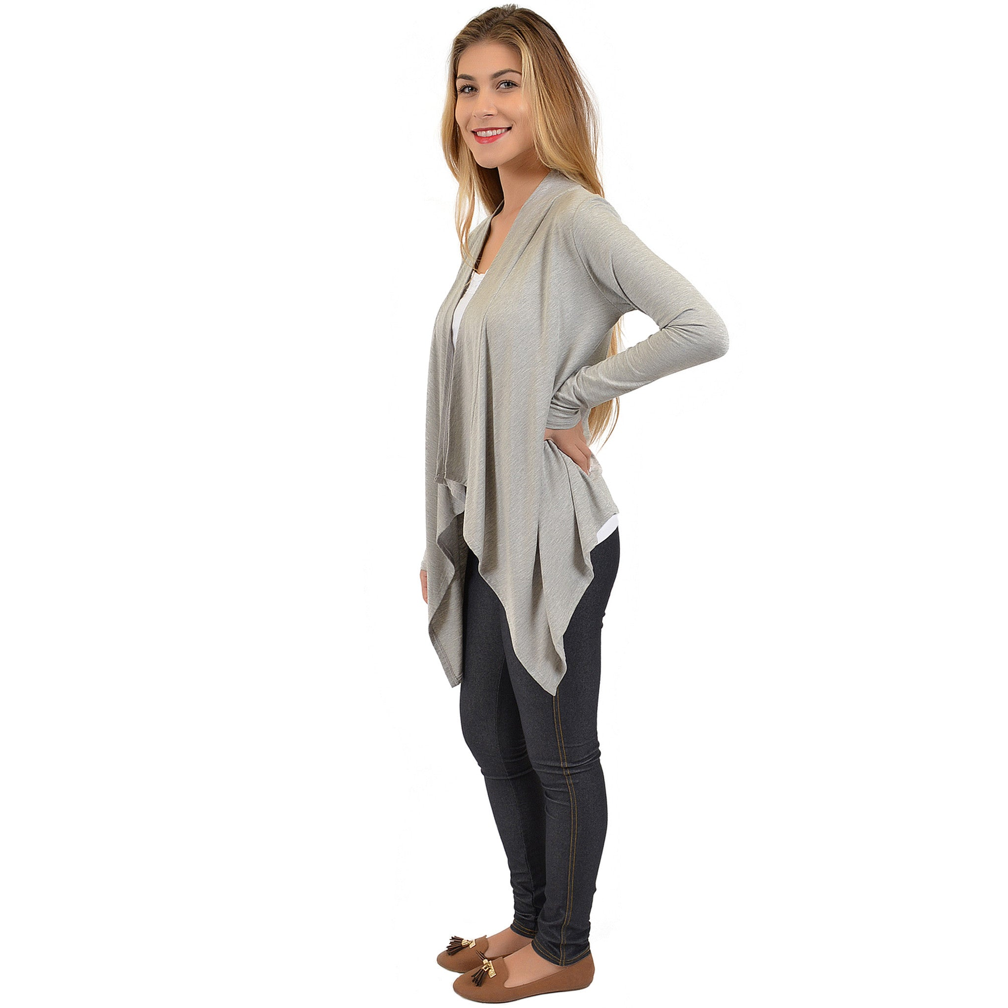 Women's Gracie Open Front Flutter Cardigan