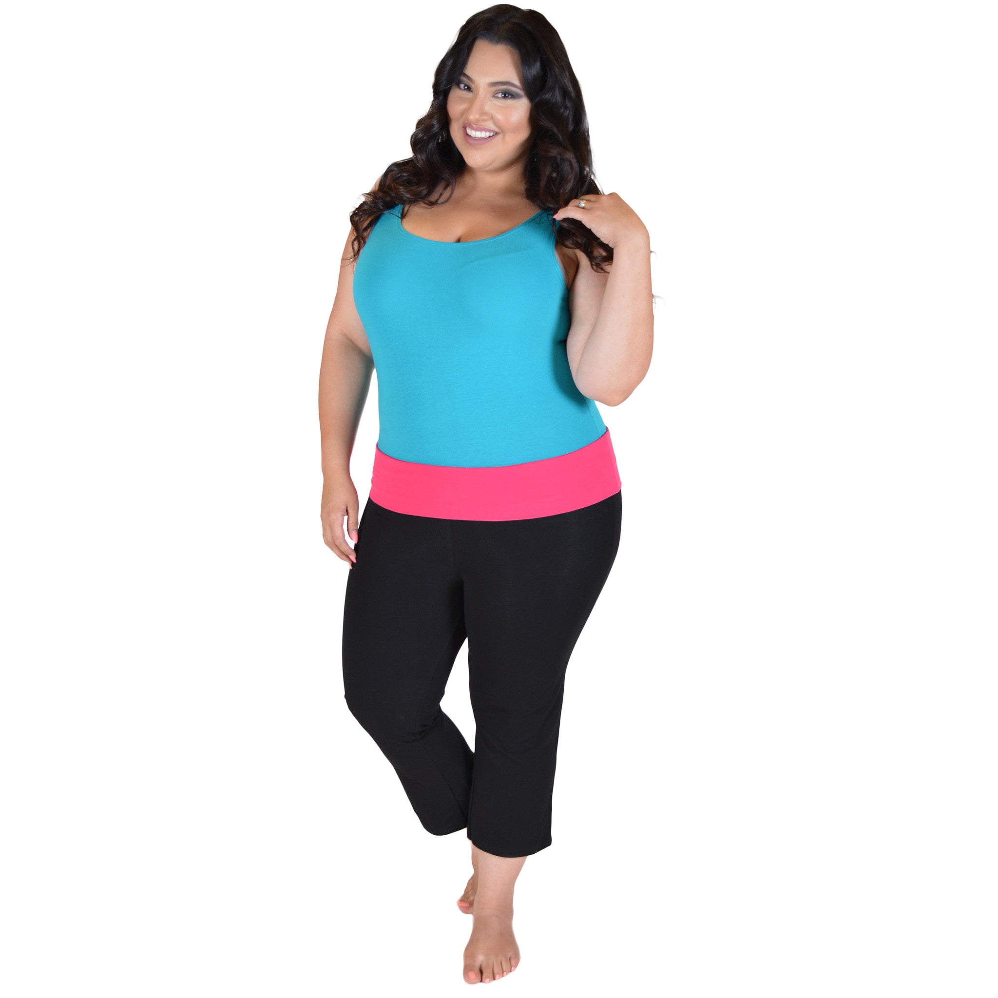 Check out the Livi Active bottoms collection for plus size workout pants in your favorite get-fit styles, like plus size workout capris, leggings, and jogger pants.