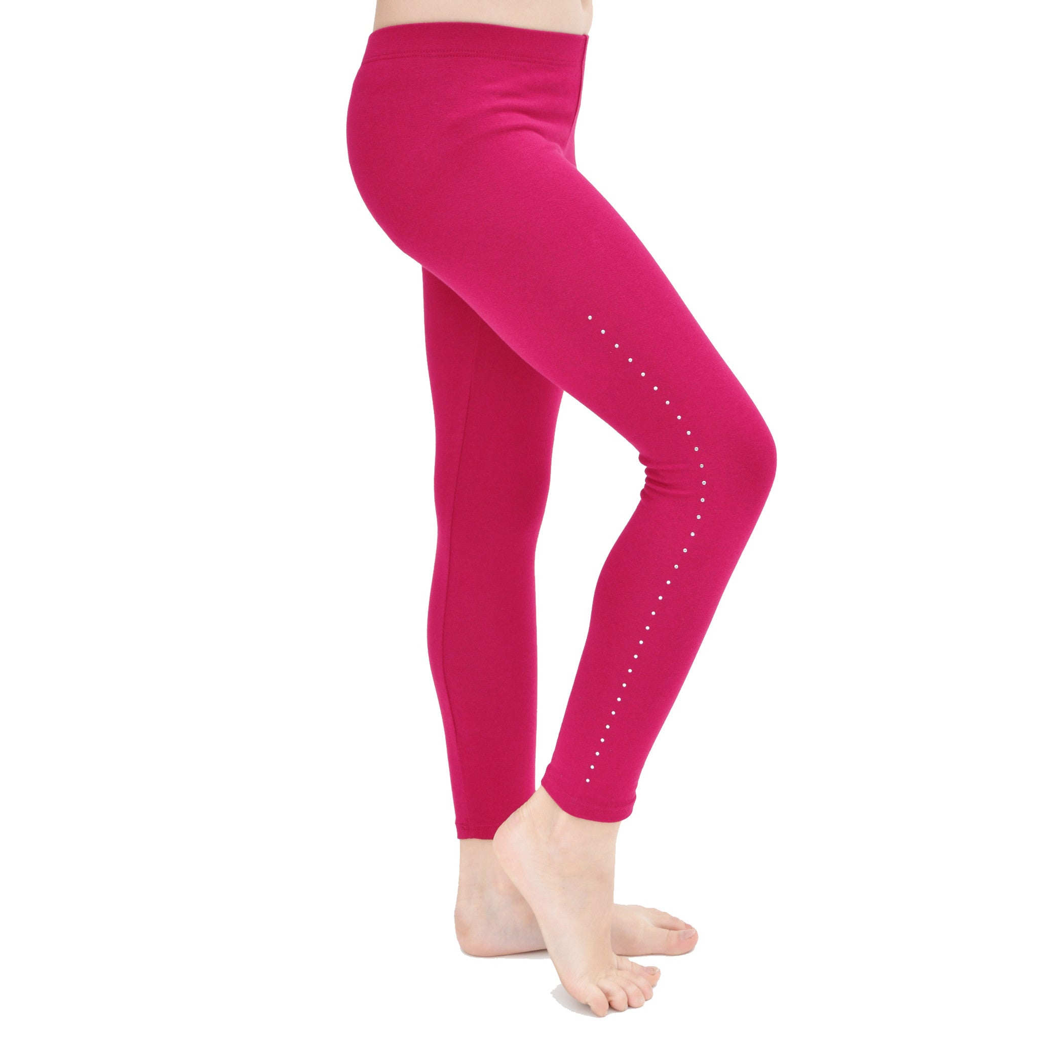 Girl's Cotton Rhinestone Leggings