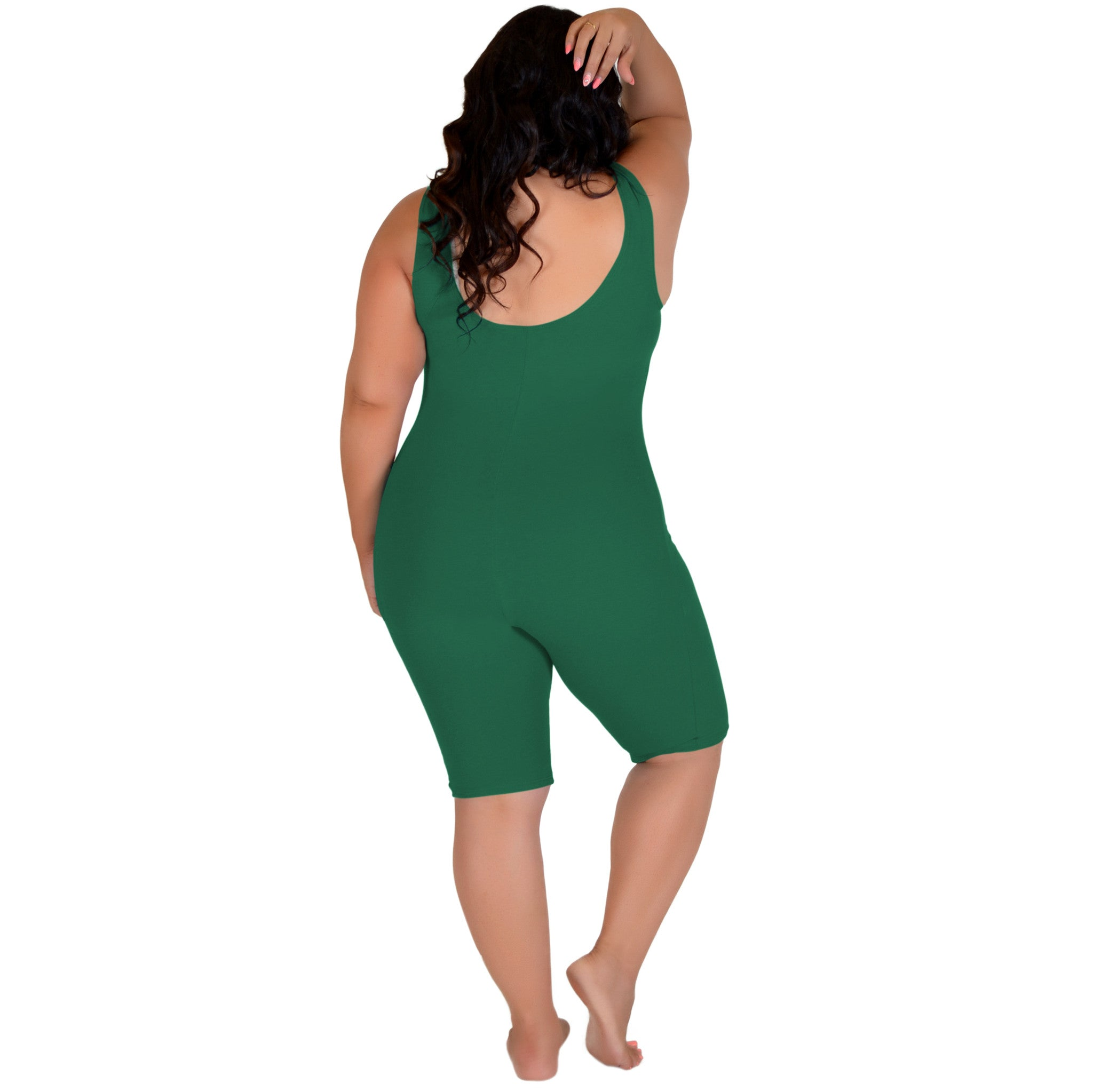 Plus Size Cotton Tank Biketard