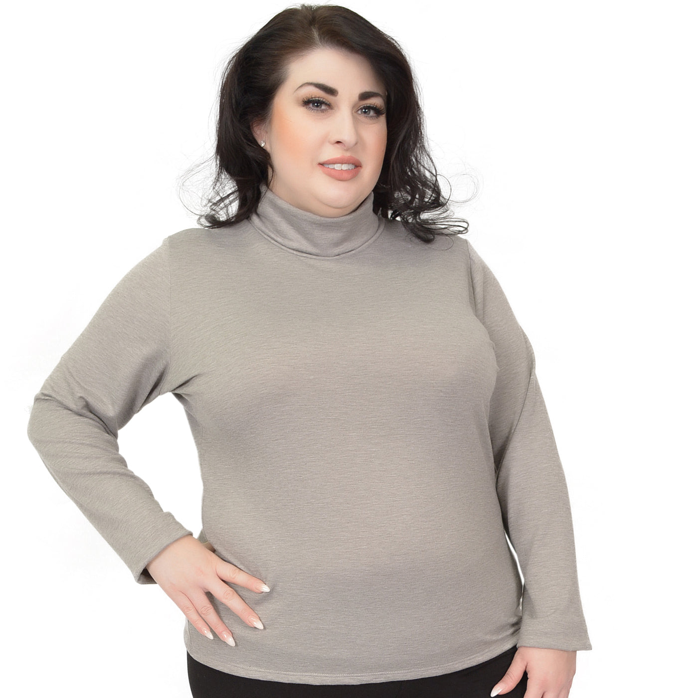 187a34fca3ee2 Stretch is Comfort Women s Plus Size Ponte Knit Long Sleeve Turtleneck Top  – Stretch Is Comfort