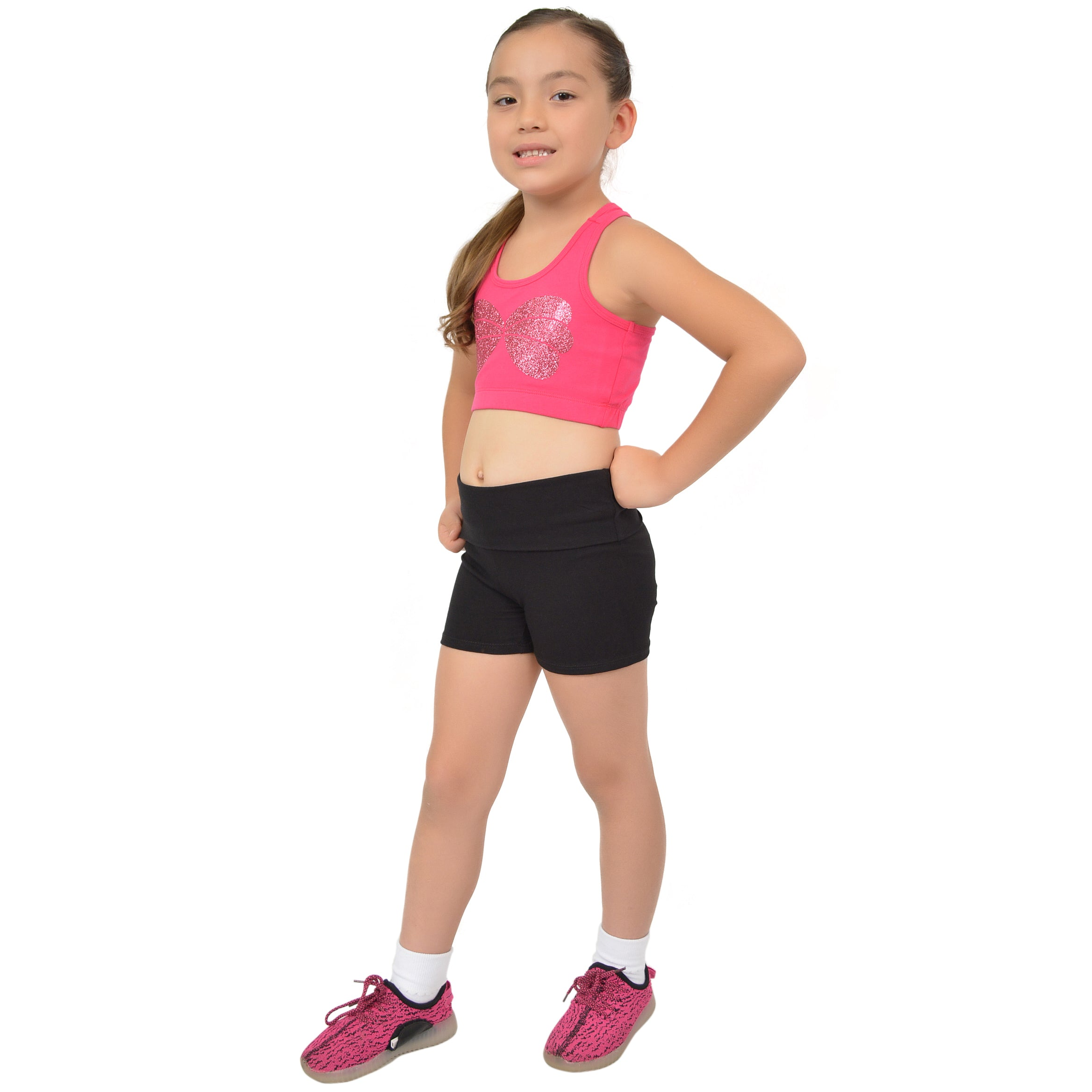 Girl's Cotton ARIEL MERMAID Sparkly Sports Bra