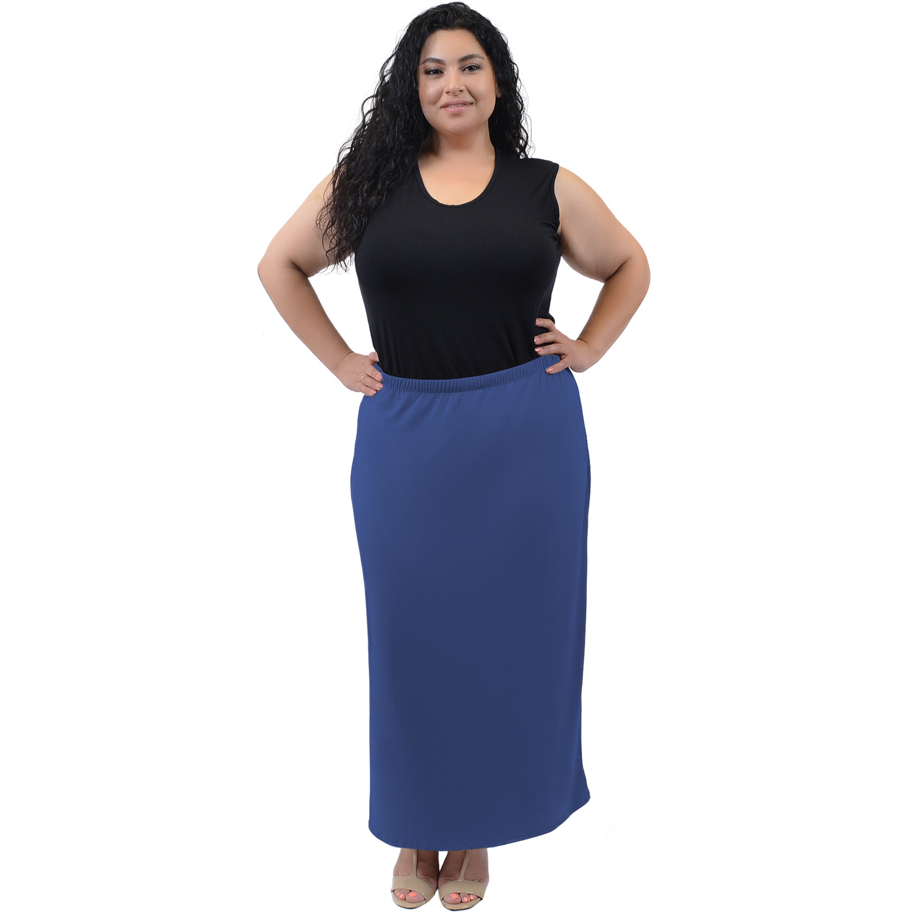 Plus Size Long Tube Skirt