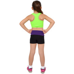 Girl's Neon NYLON Racerback Sports Bras
