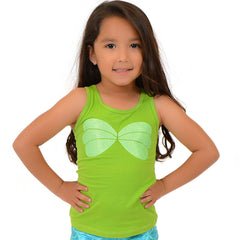 Girl's Cotton Mermaid Seashell Sparkly Ariel Tank