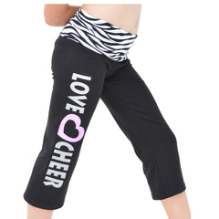 Girl's Capri LOVE CHEER Yoga Pants