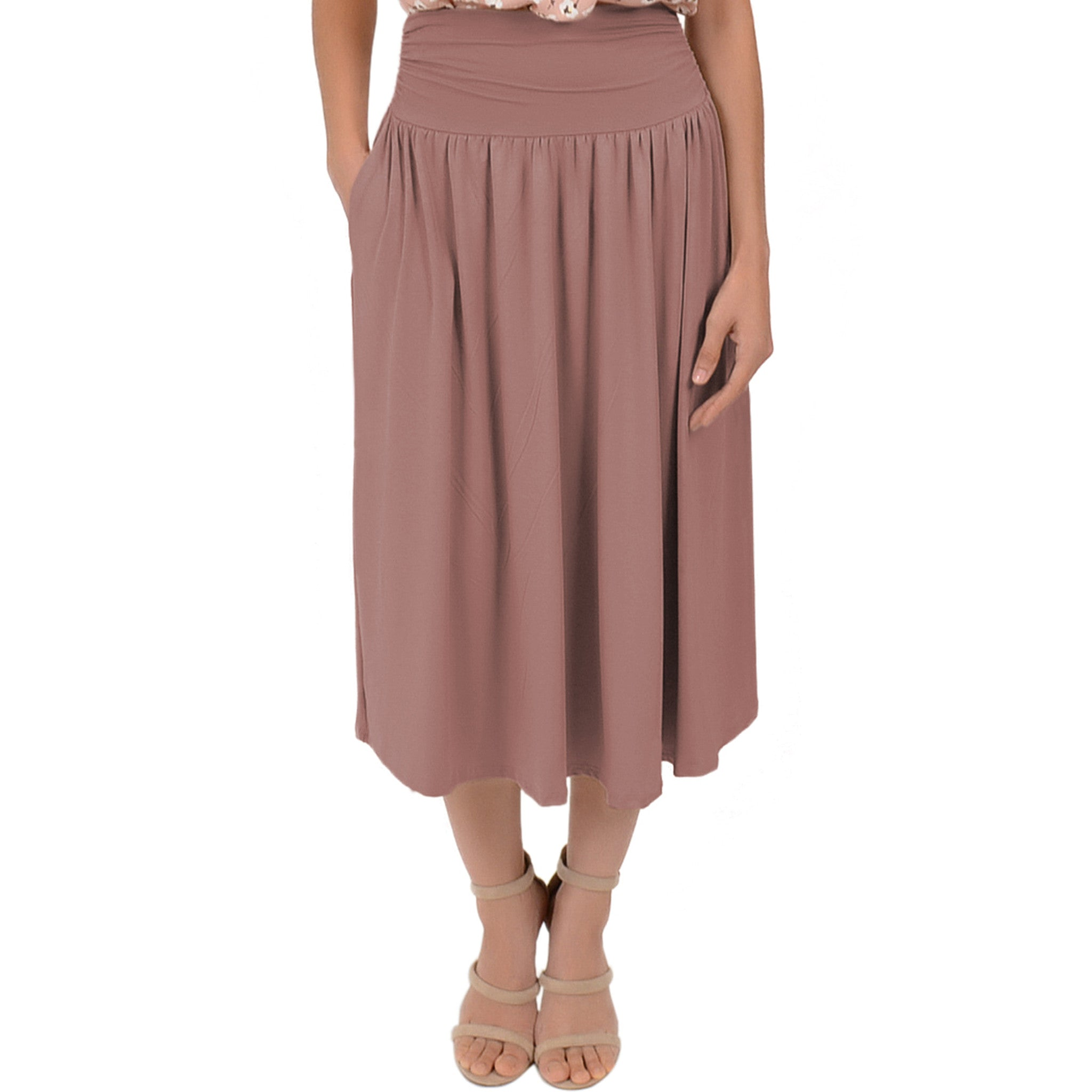 Plus Size MIDI POCKET Skirt
