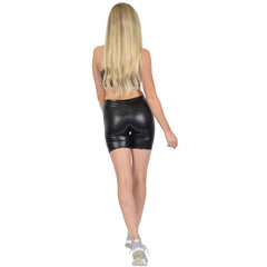 Women's Regular and Plus Size Teamwear Metallic Bike Shorts