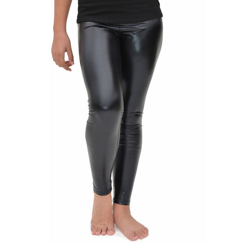 Girl's Metallic Leggings