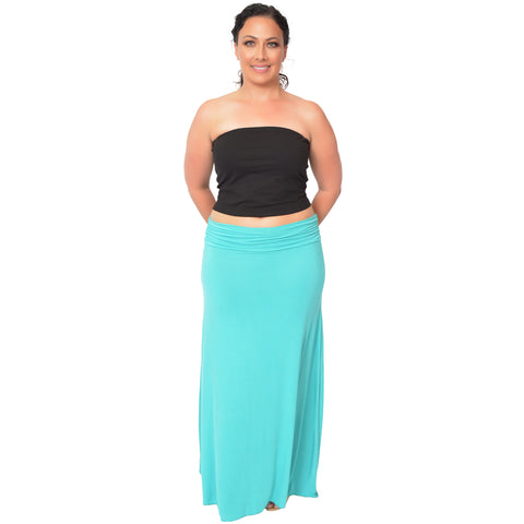 Plus Size MAXI Long Stretchy Flowy Skirt