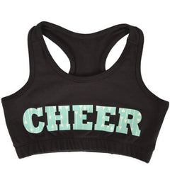 Girl's Racerback Sports Bra Cheer in Mint