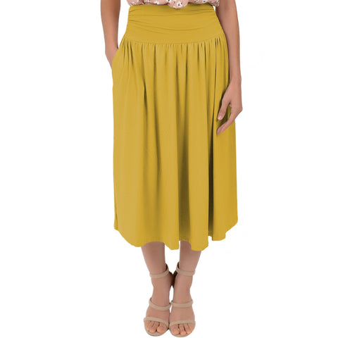 Women's MIDI POCKET Skirt
