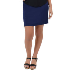 Women's Cotton Basic Mini Skirt
