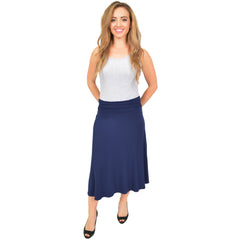 Plus Size Mandy Midi Flowy Skirt