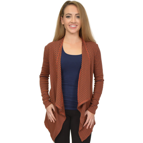 Women's Long Sleeve Open Front Drape Ashley Cardigan