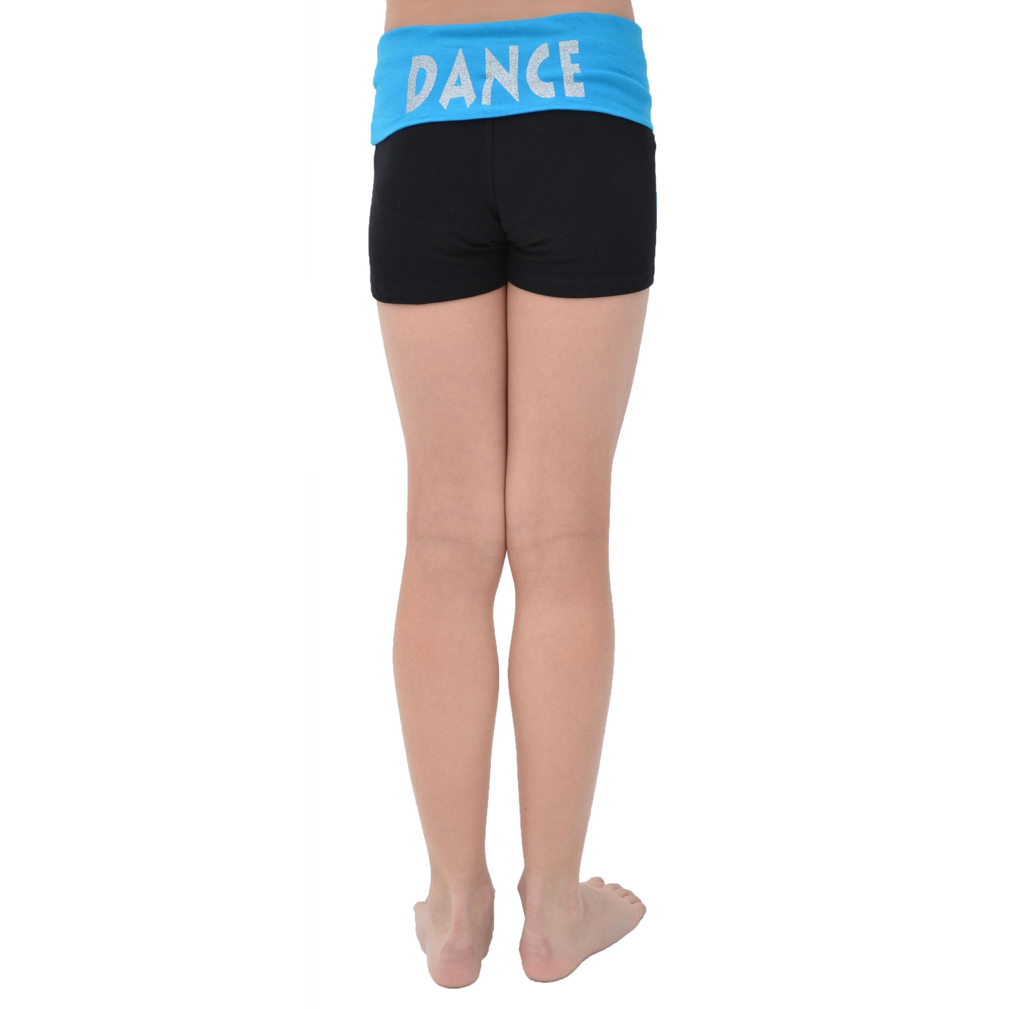 Girl's Glitter Heart Dance Foldover Yoga Shorts