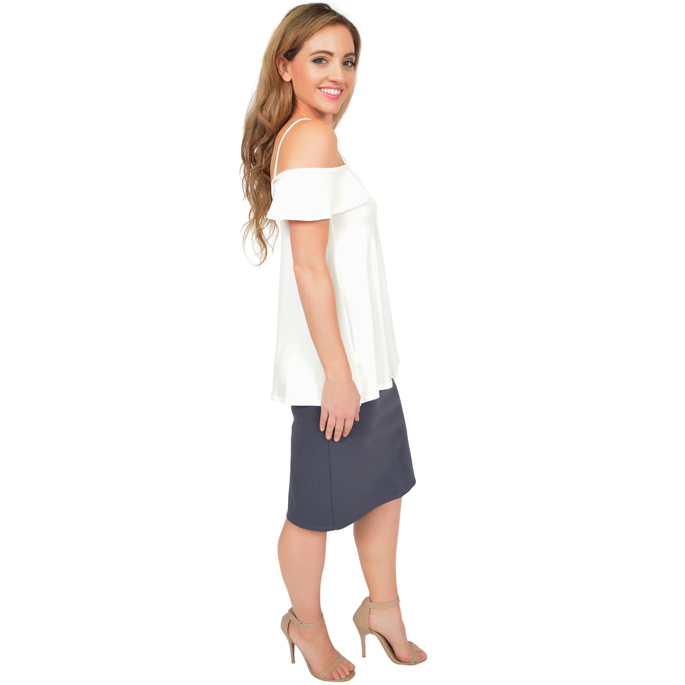 Women's Modal Cold Shoulder Top