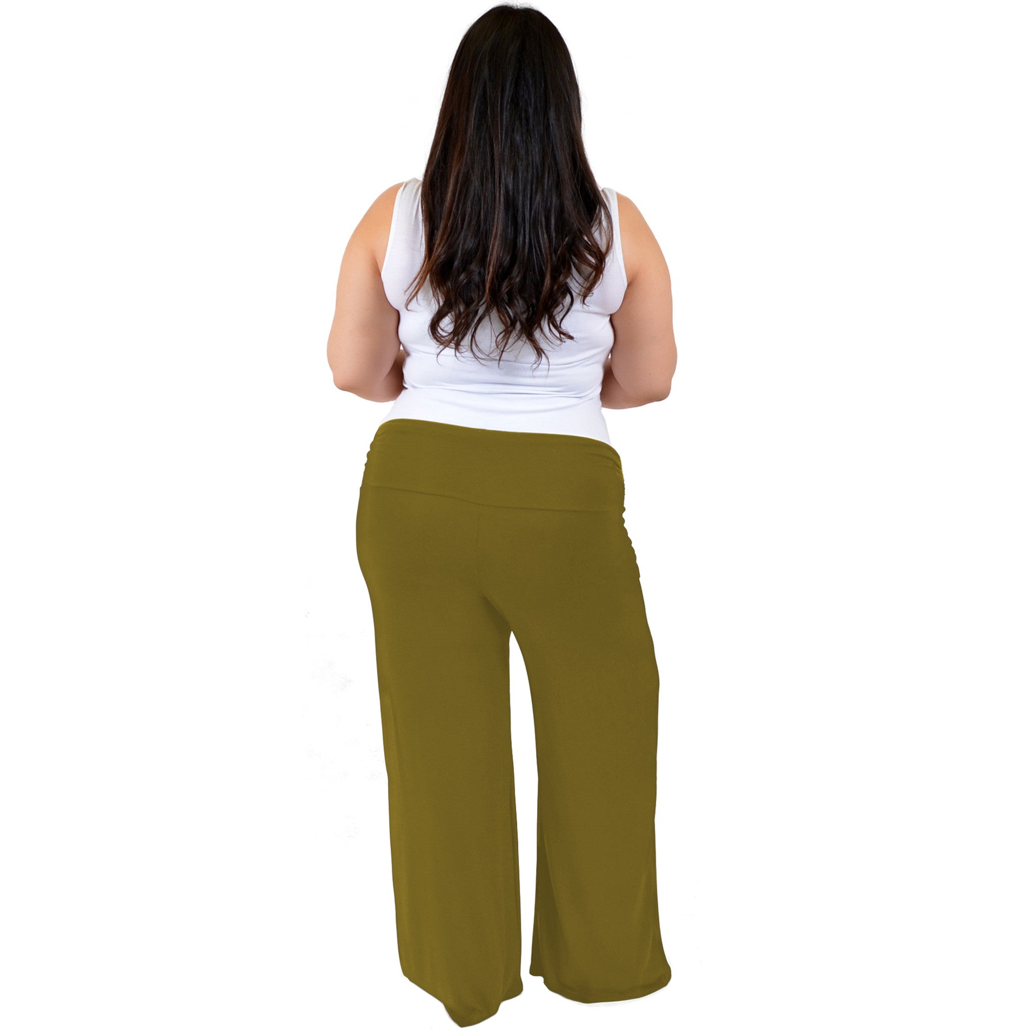Stretch Is Comfort Womens Plus Size Palazzo Pants