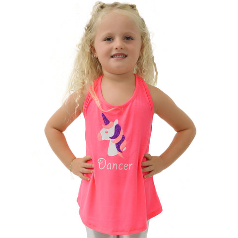 Girl's Unicorn Relaxed Fit Tank Top