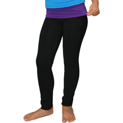 Girl's Foldover Cotton Leggings