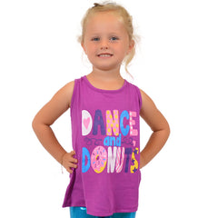 Girl's DANCE AND DONUTS Relaxed Tank