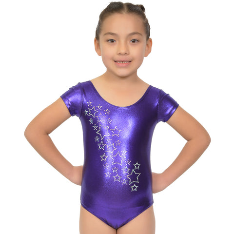Girl's RHINESTONE Raining Stars Mystique Leotards