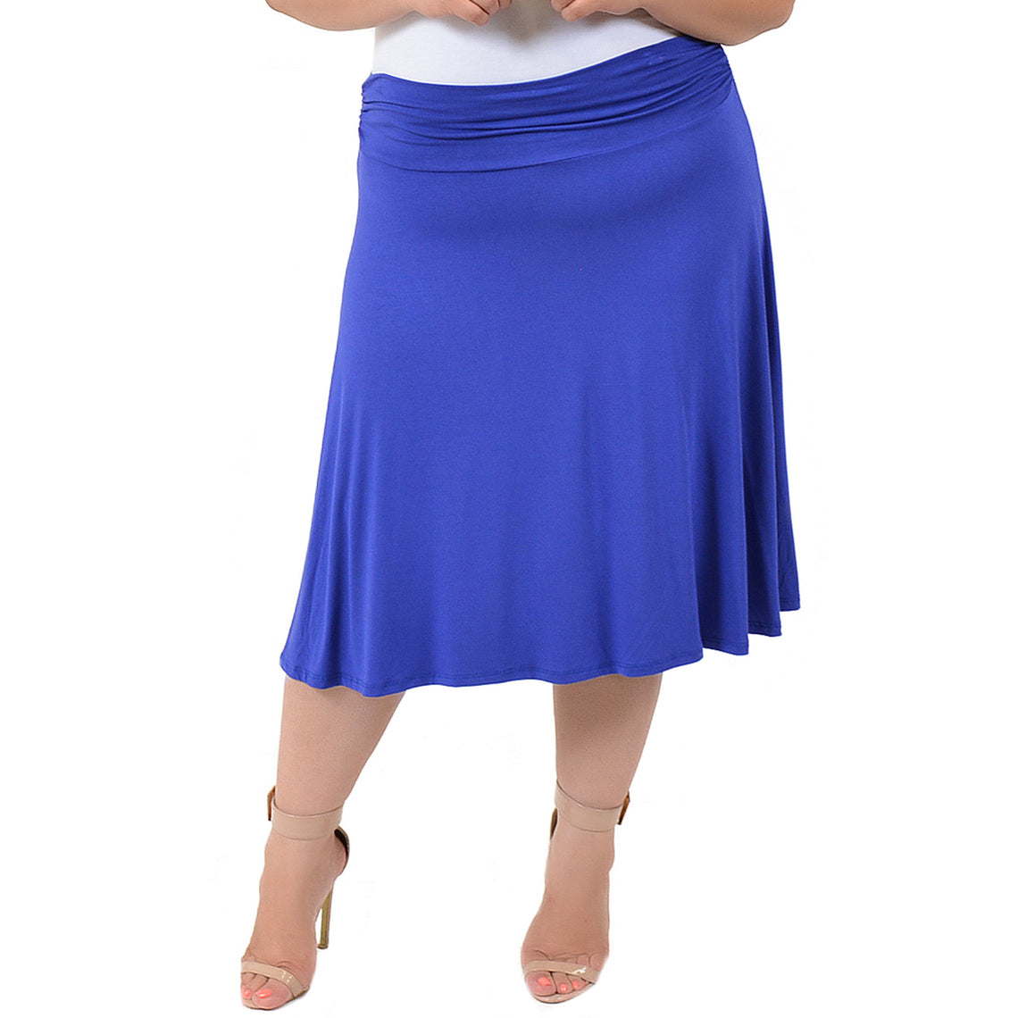 0cae22a62c Stretch is Comfort Women's Plus Size Knee Length Flowy Skirt – Stretch Is  Comfort
