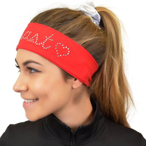 Gymnast Sparkly and Shiny Rhinestone Wide Headband