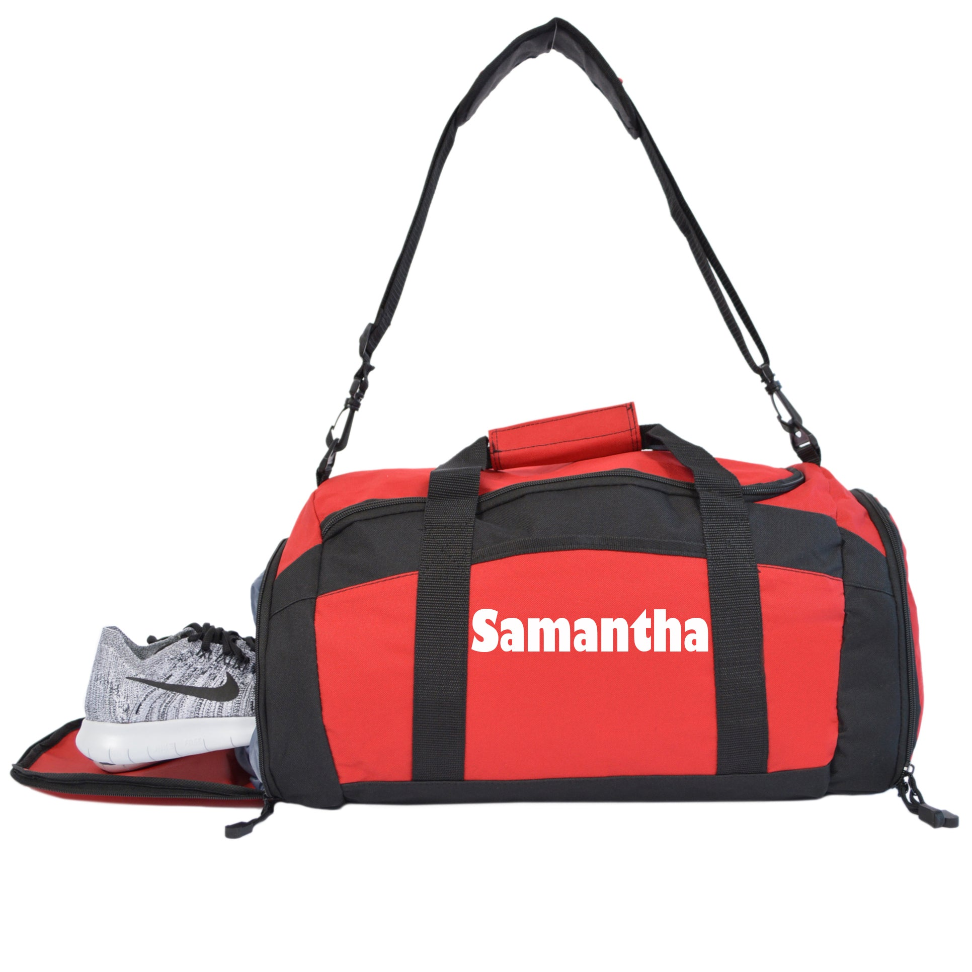 Personalized Gym Bag With Zippered Pockets and Player Name