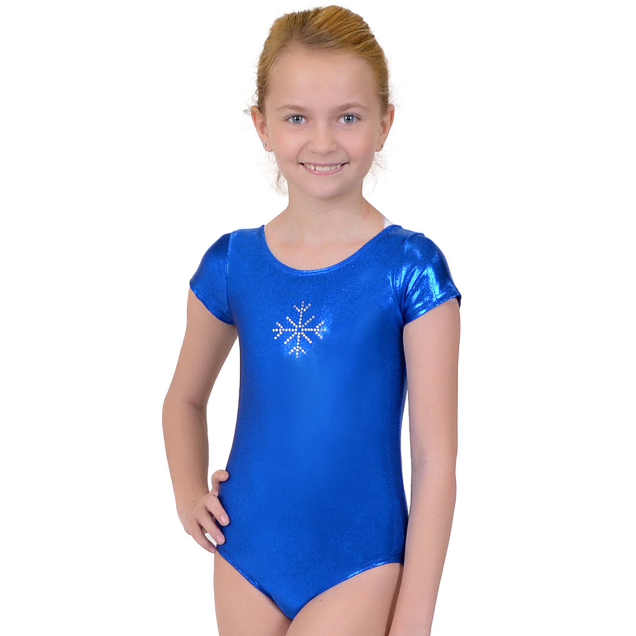 Girl's SNOWFLAKE RHINESTONE Mystique Spandex Leotards
