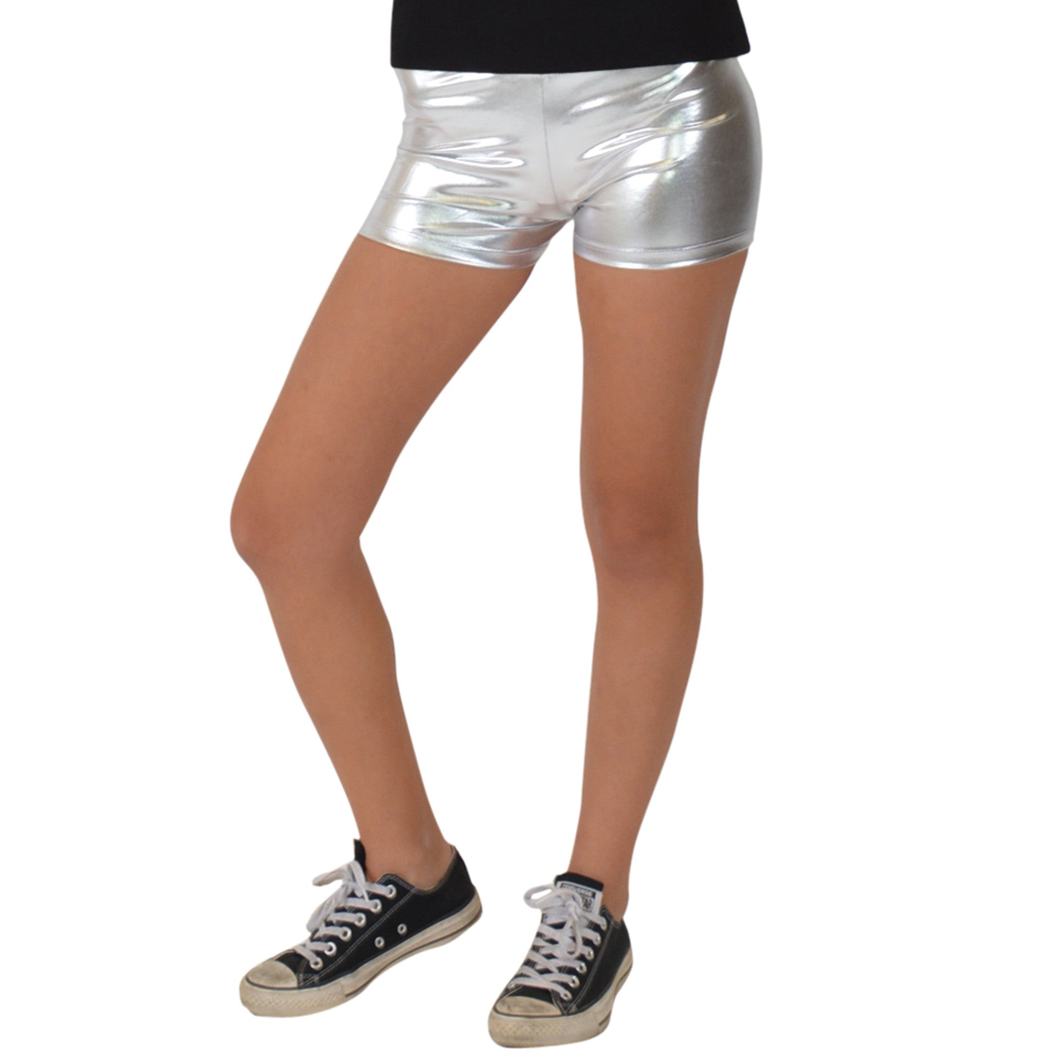 Teamwear Foil Metallic Booty Shorts